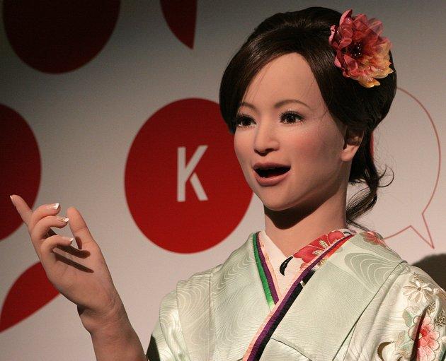 Des robots à l'accueil d'un hôtel au Japon