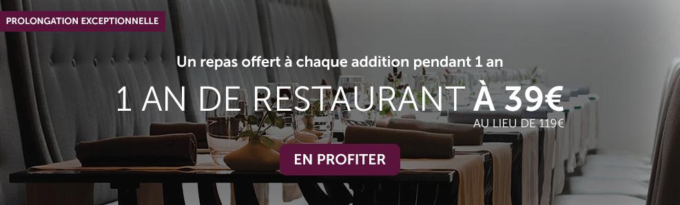 On vous invite au restaurant, profitez en !