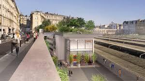 Un hôtel avec un jardin géant va ouvrir sur un quai de la gare de l'Est