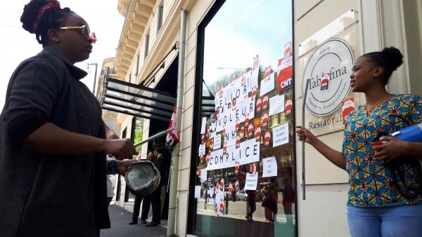 les femmes de ménage de l'hôtel NH Collection en grève