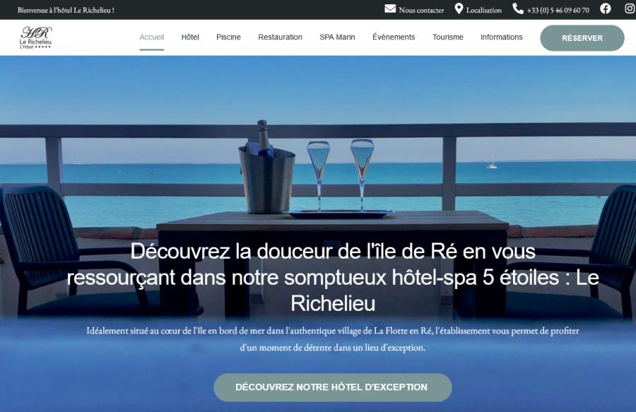 CV Développement acquiert Le Richelieu (île de Ré) avec le soutien de Bpifrance et Océan Participations